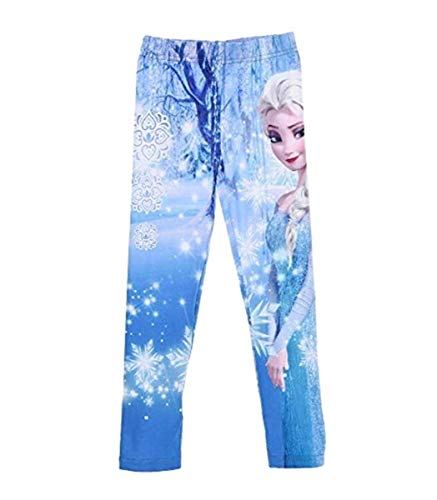 Frozen Leggins Die Eiskönigin 2017 Kollektion Leggings 98 104 110 116 122 128 Mädchen Lang ELSA Blau (104-110, Blau)