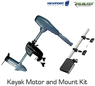 Newport Vessels 36lb Thrust Kayak Trolling Motor with Railblaza Mount Kit