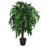 Leaf Design UK XL Kunstpflanze Mangobaum, 100 cm hoch, Schwarz