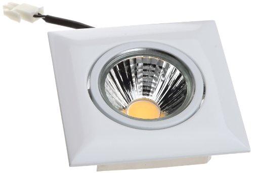 Nobile LED-Einbaustrahler A 5068Q T Flat 8 W, eckig, weiß 1856701023
