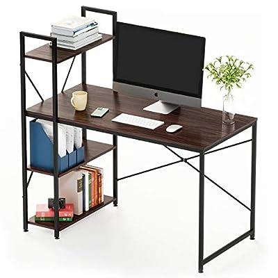 Bestier Computer Desk with Bookshelf P2 Wood