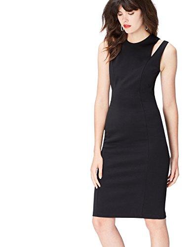 find. 13641 vestito da sera donna, Nero (Black), 42 (Taglia Produttore: Small)