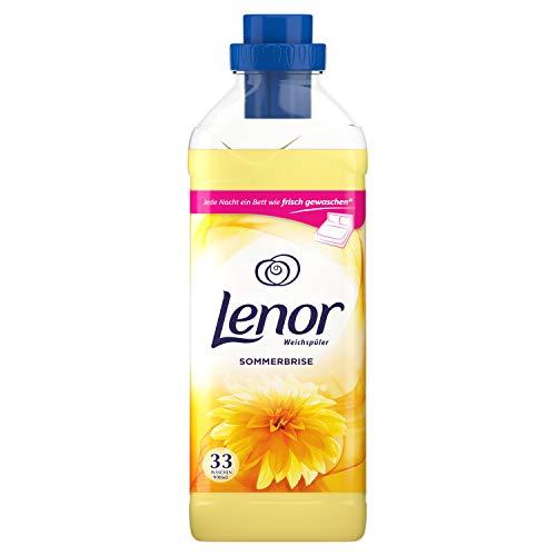 Lenor Weichspüler, Flauschige Wäsche, Sommerbrise Warme Blüten, weißer Moschus und Sandelholz, 33 Waschladungen (990 ml)