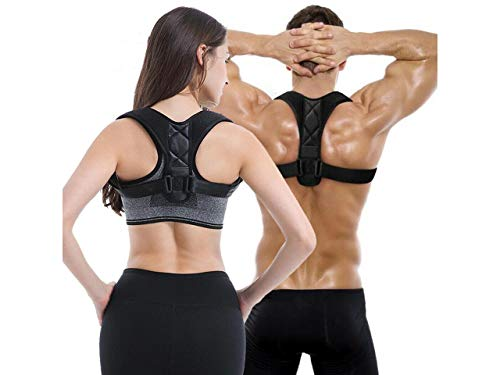 """AUCAN Posture Corrector Upper Back Straightener Brace, Clavicle Support Device for Thoracic Kyphosis and Providing Shoulder Neck Pain Relief(Chest Size: 30"""" to 41"""")"""