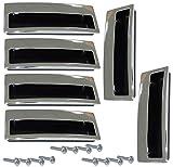 AERZETIX: 6x Tirador para cajón alacena puerta mueble armario para empotrar Lempa cromo 96mm C41362