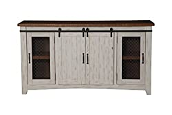 "Martin Svensson Home Taos 65"" Rustic TV Stand with Sliding Barn Doors"