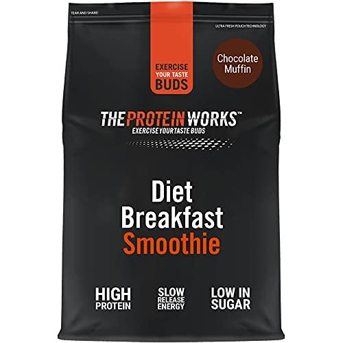 THE PROTEIN WORKS Diet Breakfast Smoothie | On The Go Breakfast | High Protein & Low Sugar | Chocolate Muffin | 500 g