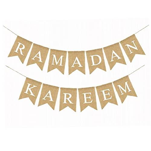 Froiny Bunting Banner Eid Mubarak Ramadán Party Banner Banderas Fuentes De Decoraciones