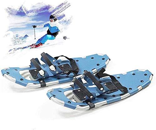 YHXF Aluminium-Schneeschuhe, Unisex25 All-Terrain-Skischuhe, Lightweight Alloy Mini-Skischuhe Mit Verstellbaren Ratschenbindungen, Für Schneespiele