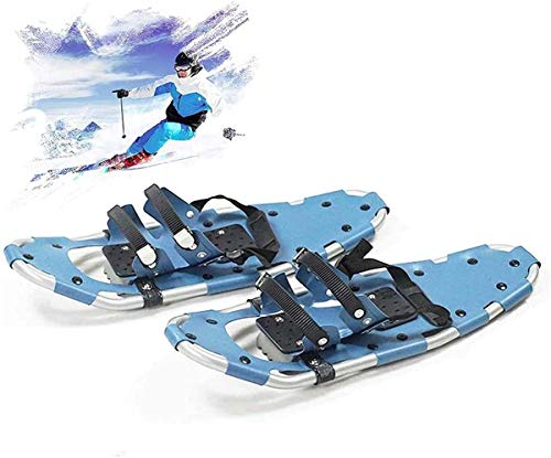 YHXF Raquetas De Nieve De Aluminio, Unisex Botas De Esquí Todo Terreno De 25', Mini Zapatos De Esquí De Aleación Ligera con Fijaciones De Trinquete Ajustables, para Juegos De Nieve