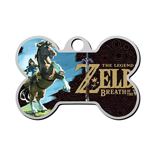 SAWADK T&he L&egend O&f Z&elda Logo Stainless Steel Pet ID Tags