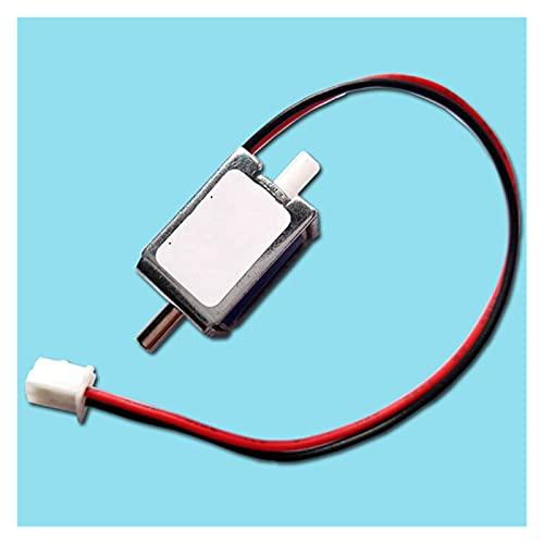 QUJJP La válvula electromagnética DC 3V 4.5V 6V 12V 24V pequeña mini electroválvula eléctrica N/C normalmente cerrada válvula de aire de gas, válvula de ventilación (voltaje: 3V)