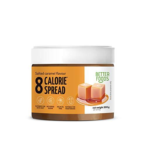 Better Foods 8 calorie al gusto di caramello salato spalmabile   Prodotto dimagrante vegano senza glutine per diabetici - 300g