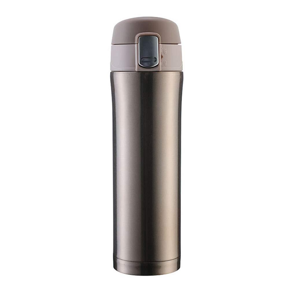 水筒・マグボトル 魔法瓶カップ断熱カップ高品質ステンレス鋼ロックウォーターカップギフト 魔法瓶 (色 : ゴールド)