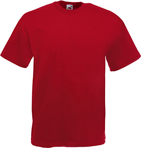 Fruit of the Loom Valueweight T-Shirt Dunkelrot XL
