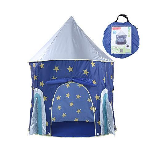 Sipobuy - Tenda da Gioco per Bambini, pieghevole, Design grazioso: Razzo spaziale, per Interni ed Esterni