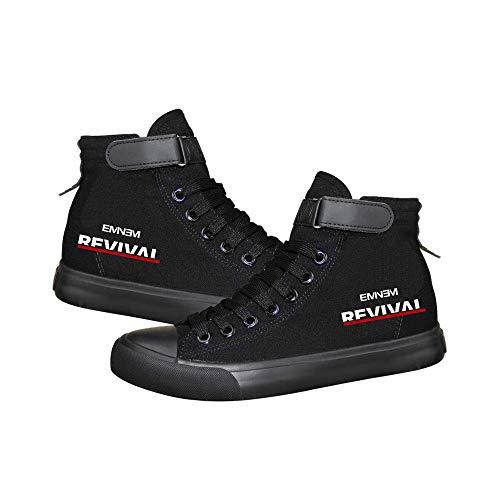 Eminem Schuhe Schuhe Schuhe Herbst und Winter Trendy Mode-wildes Sport College-Art-beiläufiger Mann und Frau Unisex (Color : Black10, Size : EU39 US7.5)