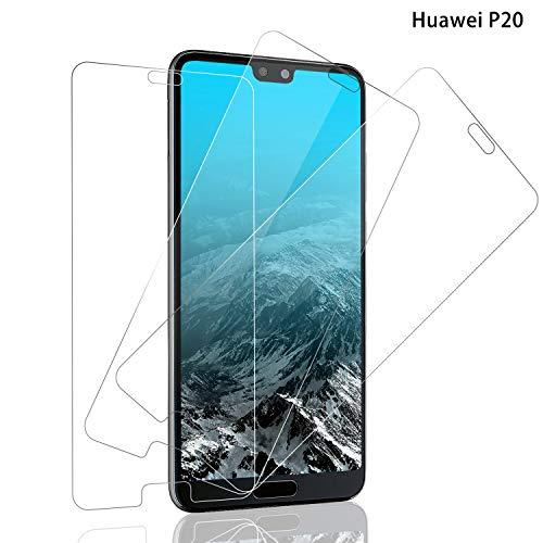 Panzerglas für Huawei P20 Schutzfolie, [3 stück] Huawei P20 Panzerglasfolie mit 9H Härte, Anti-Kratzer Schutzglas, Anti-Fingerabdruck, 3D Touch, Bläschenfrei Transparent, Huawei P20 Displayschutzfolie
