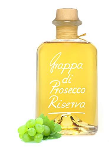 Grappa Prosecco Riserva 0,7L holzfassgereifte Spitzengrappa sehr mild! 40% Vol