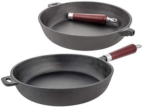 Top kwaliteit Premium Gietijzer Frying Pan Master Class Niet Stick met Afneembare Handgreep. Zeer stevig ijzeren gietijzer Ø 30 cm (1009)