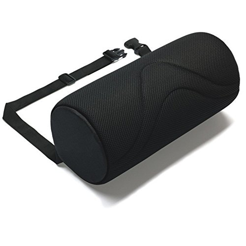 ORIGINAL 4 LUMBAR SUPPORT ROLL - Helps prevent the onset of Back Pain- BLACK by FitMad