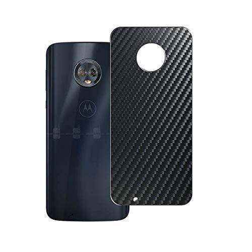 二枚 Sukix 背面保護フィルム 、 Motorola Moto G6 向けの ブラック カーボン調 TPU 保護フィルム 背面 フィルム スキンシール 背面保護 背面フィルム(非 ガラスフィルム 強化ガラス ガラス ケース カバー ) 修繕版