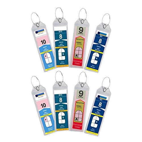 LIOOBO 8 Piezas de Equipaje de Crucero Portaetiquetas de Cierre hermético y Etiquetas de Equipaje de Acero Etiquetas de Equipaje Etiquetas de identificación