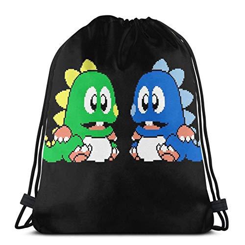 Bubble Bobble Sport Sackpack Kordelzug Rucksack Gym Bag Sack
