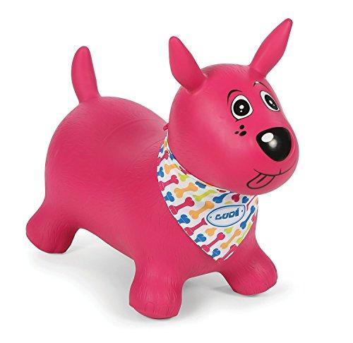 Ludi 2777 - Rose Mon Chien Sauteur Cachorro inflable, Rosa