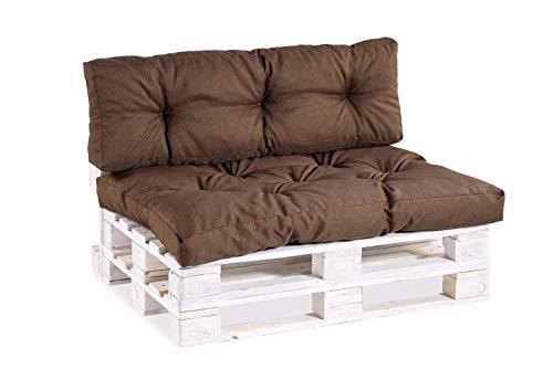 gutekissen Coussins pour Palettes PPI (Canapé d'angle 60x40, Brun)