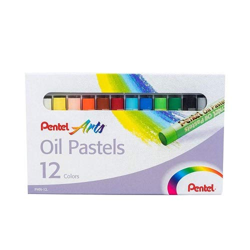 Pentel PHN-12 - Caja de 12 pasteles de aceite, colores surtidos