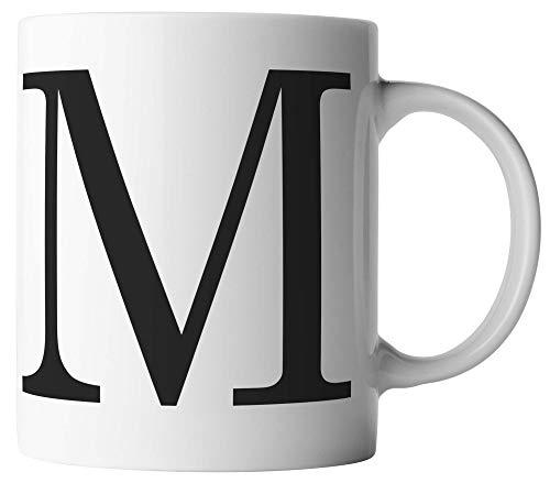 vanVerden Tasse - Buchstaben Tasse M - Alphabet Letters Buchstabe - beidseitig Bedruckt - Kaffeetassen, Tassenfarbe:Weiß