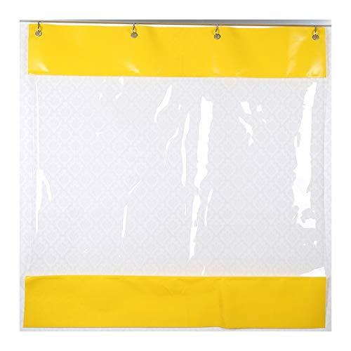GDMING Lona De PVC Impermeable Tarea Pesada Transparente Empujar Y Jalar Cortar Cortina para Interior Al Aire Libre A Prueba De Polvo Impermeable, Personalizable (Color : Claro, Size : 2x3m)