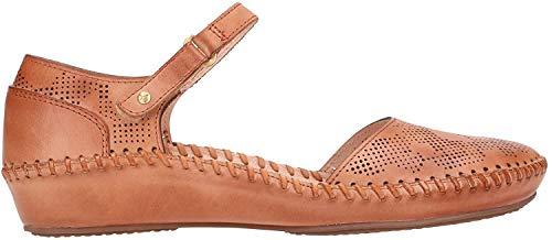 Pikolinos 655-0545 Puerto Vallarta Schuhe Damen Ballerinas Sandalen, Schuhgröße:42 EU, Farbe:Braun