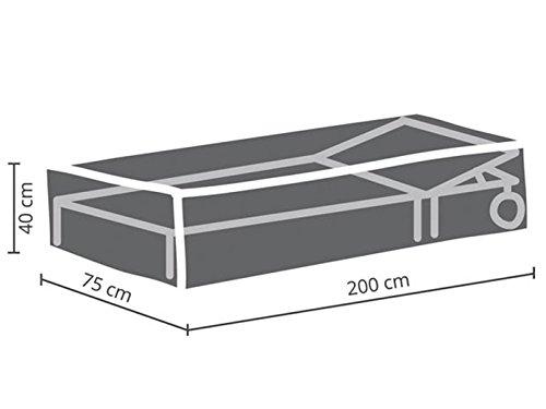 Perel Garden OCSL Housse de Protection pour Chaise Longue Anthracite 200 x 75 x 40 cm