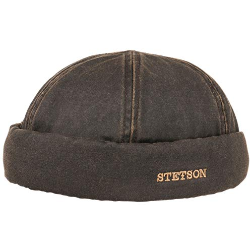 STETSON Bonnet Docker Old Cotton XL (60-61 cm) - Marron