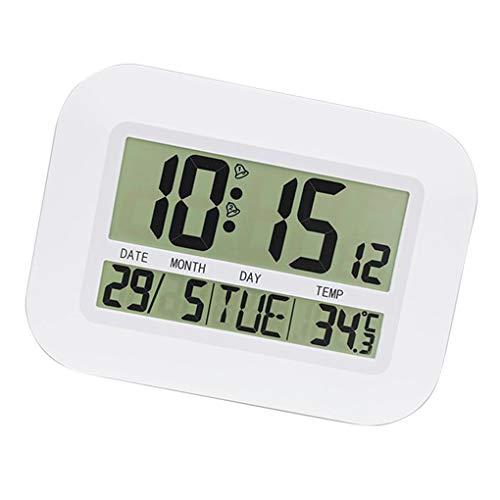 Fangfeen Indoor Desktop-Digitaluhr-Thermometer Wandtemperaturanzeige Mounted Wohnzimmer Büro Mute Multifunktions-Uhr