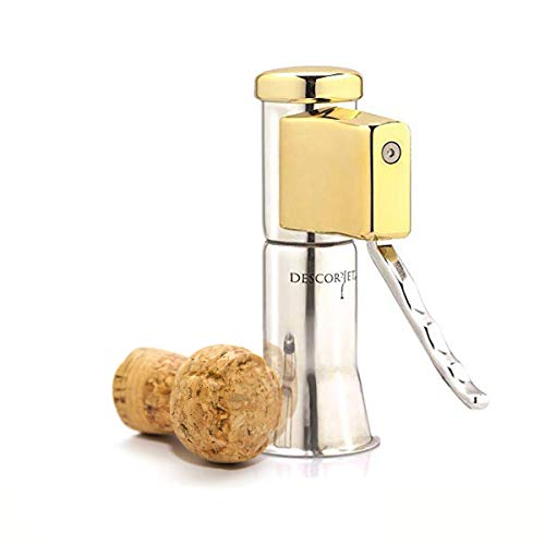 One-handed Champagne Bottle Opener, Effortless Corkscrew —Cork Opener, Puller, Corkpops Perfect Gift, Kitchen Utensils and Gadgets, Bar Tools, Bar Equipment, Food Service Equipment, Waiter Opener