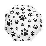 My Daily Paraguas plegable compacto con diseño de pata de perro y gato