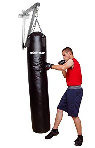 Sport-Thieme Boxsack Studioline | In verschiedenen Varianten (Länge) | Profi-Boxsack | Aus PU | Füllung: Leinen-Gummi-Mix | Inkl. 4-Punkt-Aufhängkette u. Drehwirbel
