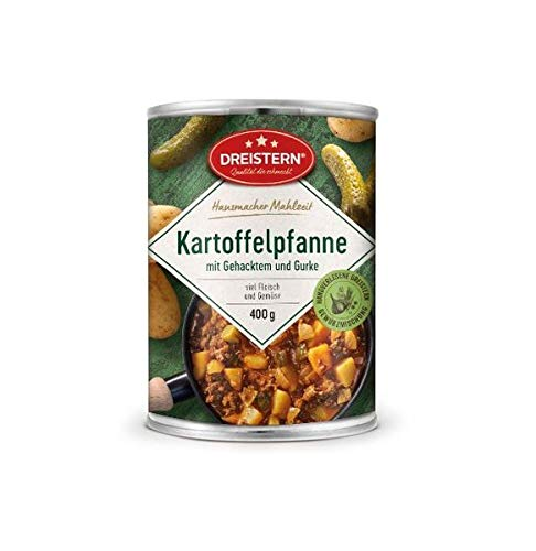 Dreistern Hausmachermahlzeit Kartoffelpfanne mit Gehacktem+Gurke 400gr Dose