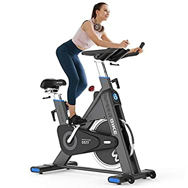 Indoor Cycling Bike, Belt Drive Exercise Bike...