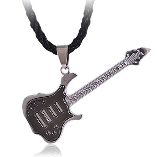 liming Edelstahl Überzug Rock Guitar Halskette Kupfer Titan Edelstahl Musik Gitarre Anhänger Halskette für Männer Schmuck