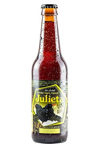 Cerveza JULIETA Negra Sin Gluten 33 cl. Producto Islas Canarias.