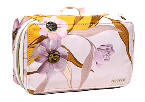 Ted Baker Large Earline Cabana Travel Tidy Wash Cosmetic Make Up Bag in Light Pink