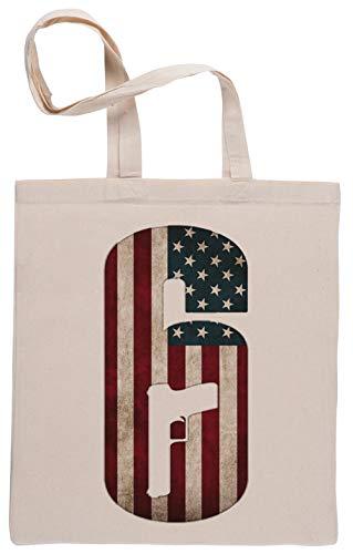 Capzy Regenbogen Sechs Belagerung Usa Einkaufstasche Beige Shopping Bag Beige