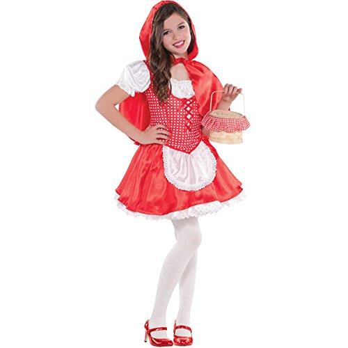 Amscan 999 708 Costume Cappuccetto Rosso, taglia 4-6 anni
