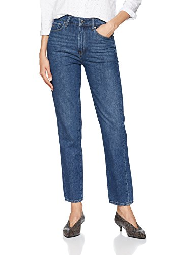 G-STAR RAW Damen 3301 High 90\'s Ankle Straight Jeans, Blau (medium Aged Stone 8973-6093), 28W / 32L