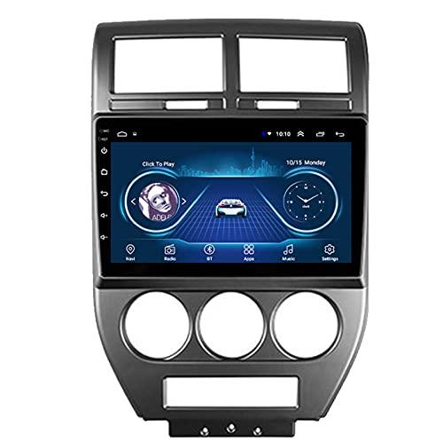 Android 10.0 8 Core Car stereo radio de navegación por satélite FM AM Autoradio 2.5D Pantalla táctil para Jeep COMPASS 2006-2010 Navegador GPS Bluetooth WIFI GPS USB SD player(Color:WIFI 1G+16G)