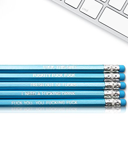 Swear Word - Fresh Prints of CT Inspirational Pencils Engraved With Funny And Motivational Sayings For School And The Office